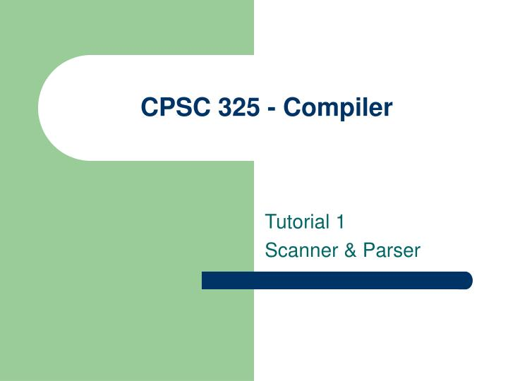 Cpsc 325 compiler