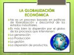 la globalizaci n econ mica