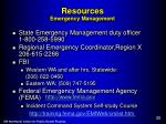 resources emergency management
