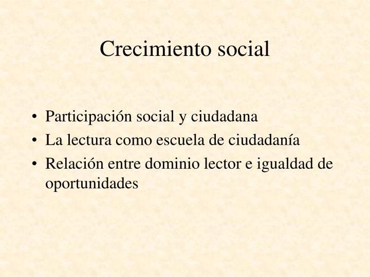 Crecimiento social