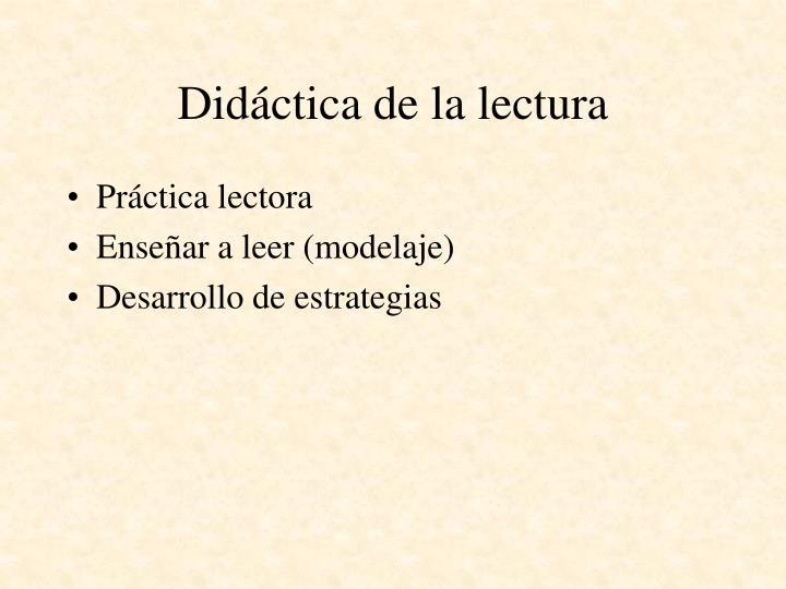 Didáctica de la lectura