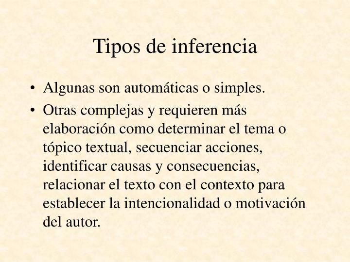 Tipos de inferencia