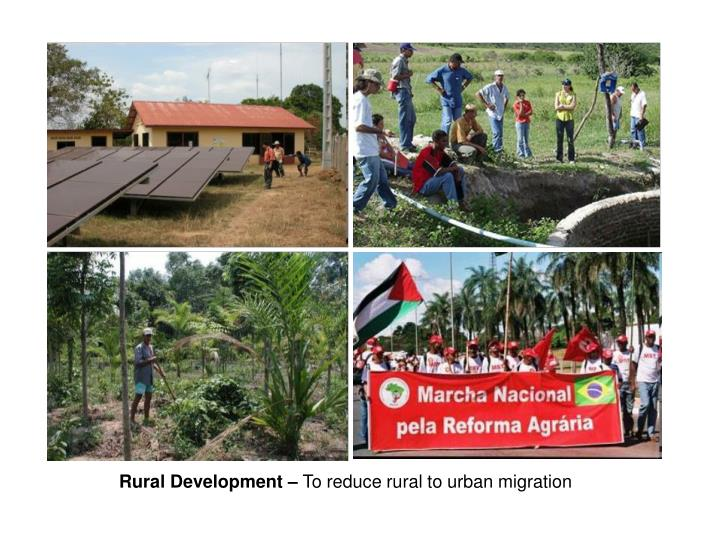 Rural Development –