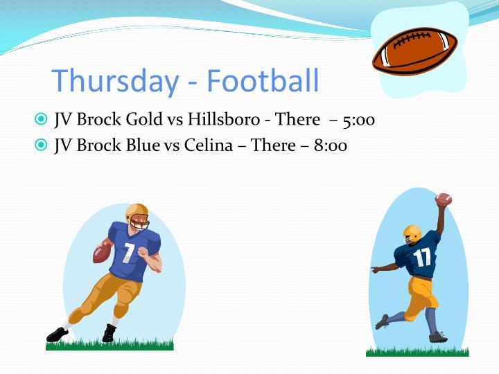 Thursday - Football