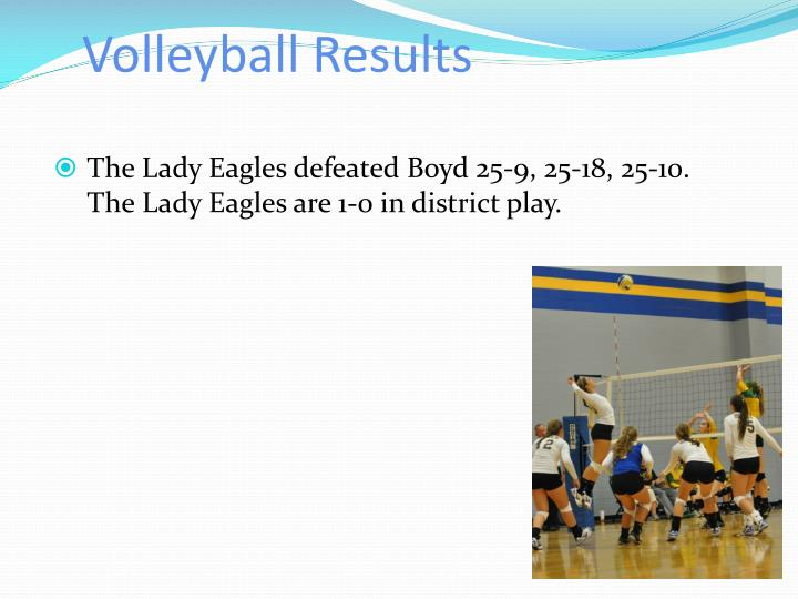 Volleyball Results