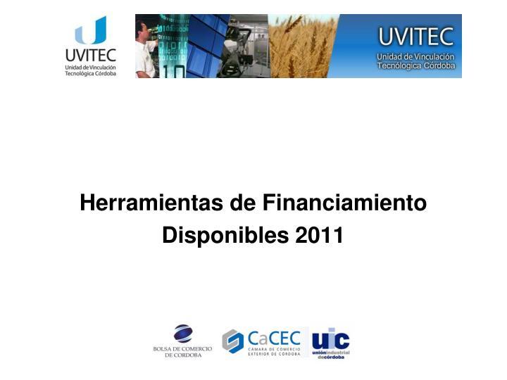 Herramientas de Financiamiento