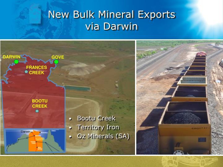 New Bulk Mineral Exports
