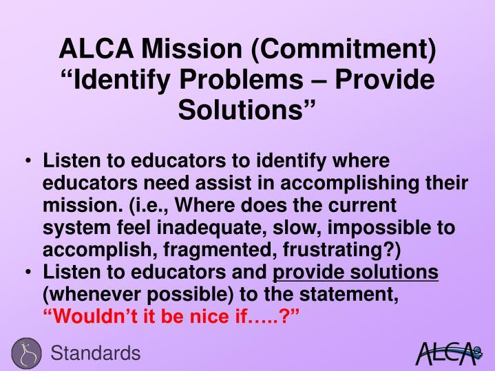 ALCA Mission (Commitment)