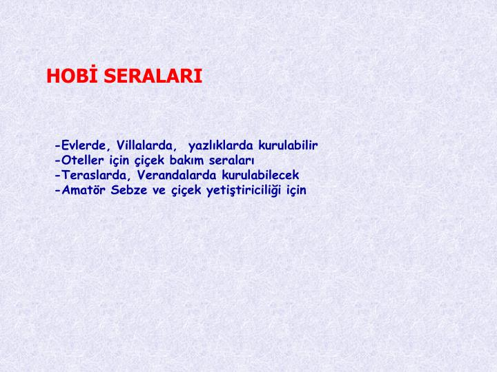 HOB SERALARI
