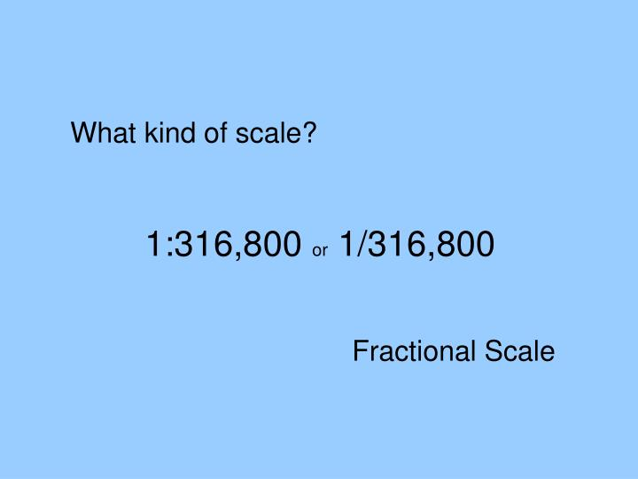 What kind of scale?