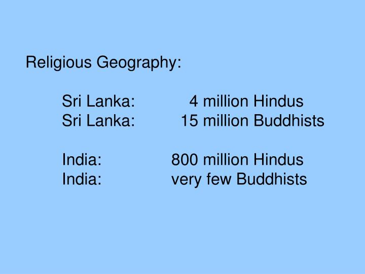 Religious Geography:
