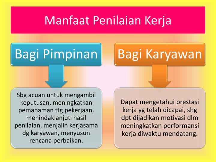 Manfaat Penilaian Kerja