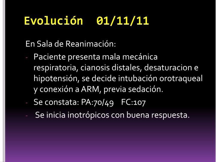 Evolución  01/11/11