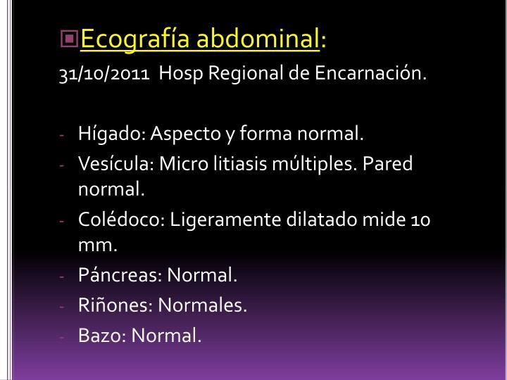 Ecografía abdominal