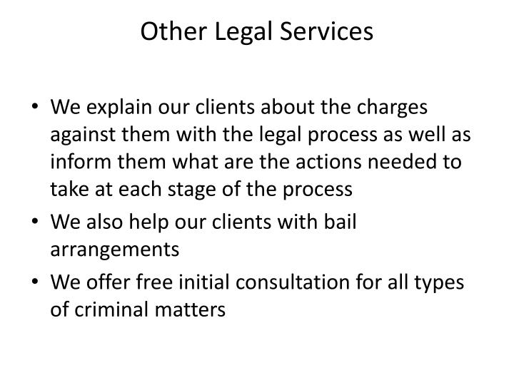 Other Legal Services