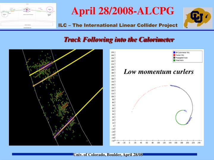 Track Following into the Calorimeter