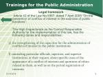 trainings for the public administration1