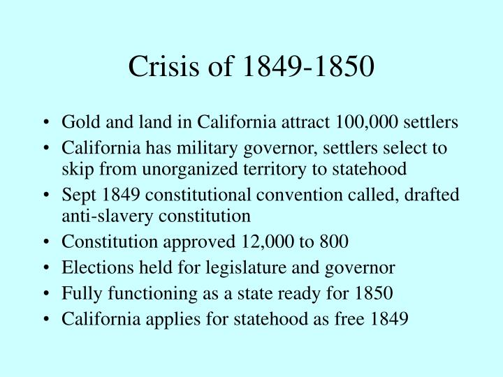 Crisis of 1849-1850