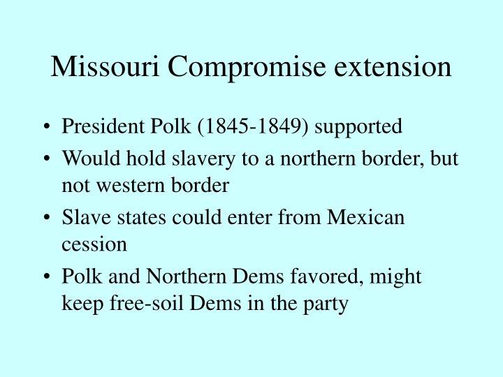 Missouri Compromise extension