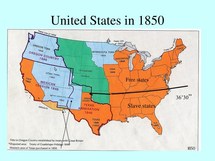United states in 1850