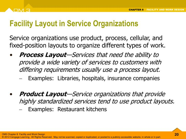 Facility Layout in Service Organizations