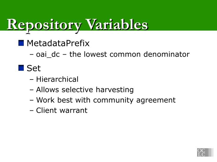 Repository Variables