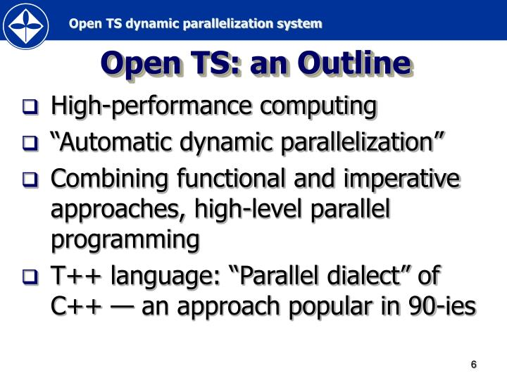 Open TS: an Outline
