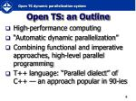 open ts an outline