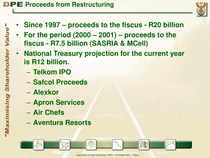 Proceeds from Restructuring