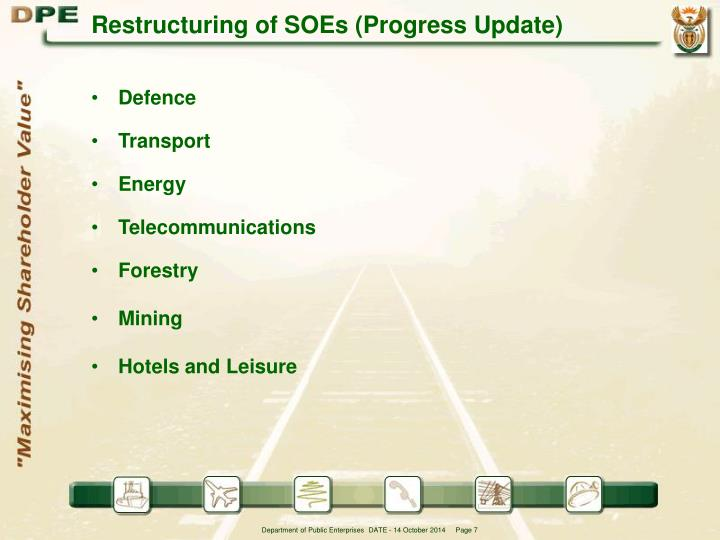 Restructuring of SOEs (Progress Update)