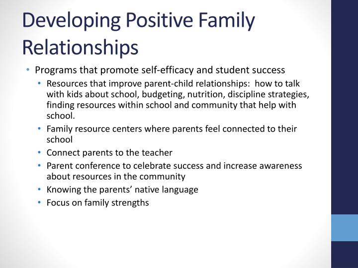 Developing Positive Family Relationships