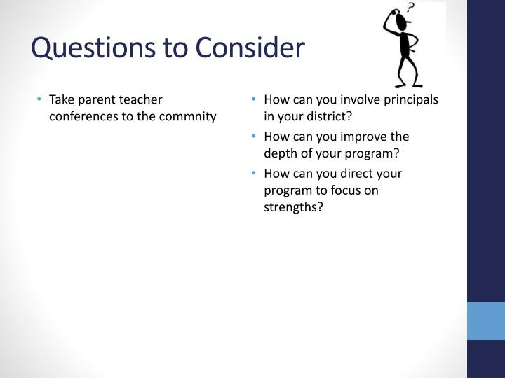 Take parent teacher conferences to the commnity