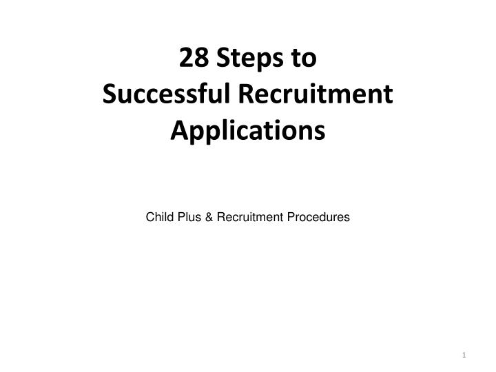 28 Steps to