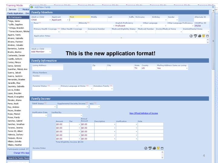 This is the new application format!