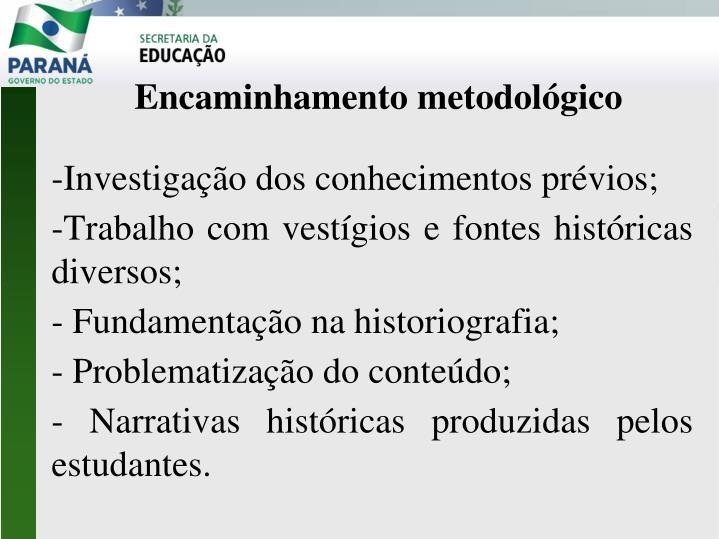 -Investigação dos conhecimentos prévios;