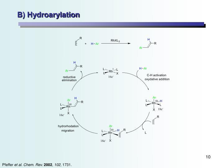 B) Hydroarylation
