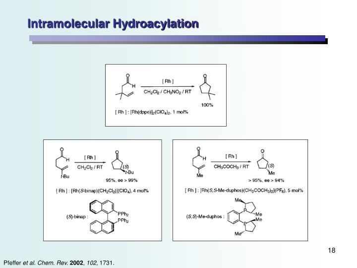 Intramolecular Hydroacylation