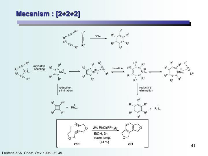 Mecanism : [2+2+2]