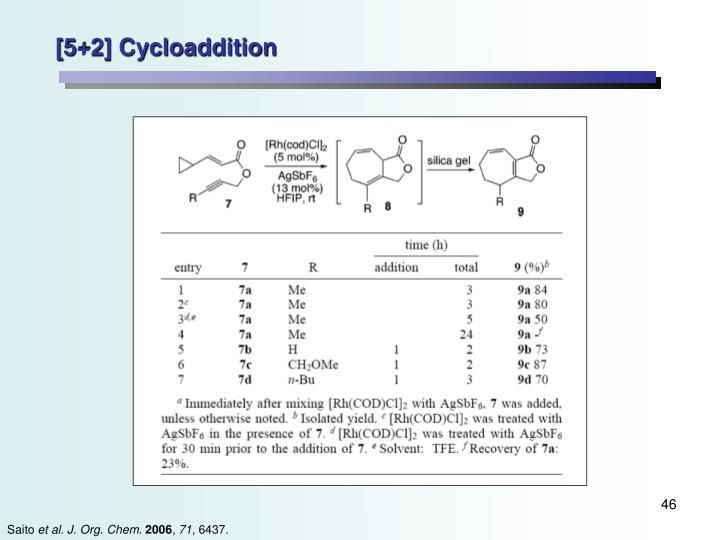 [5+2] Cycloaddition