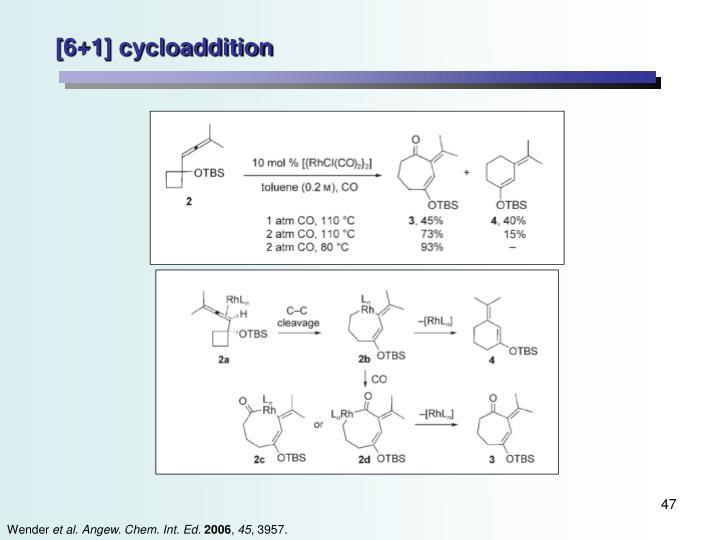 [6+1] cycloaddition