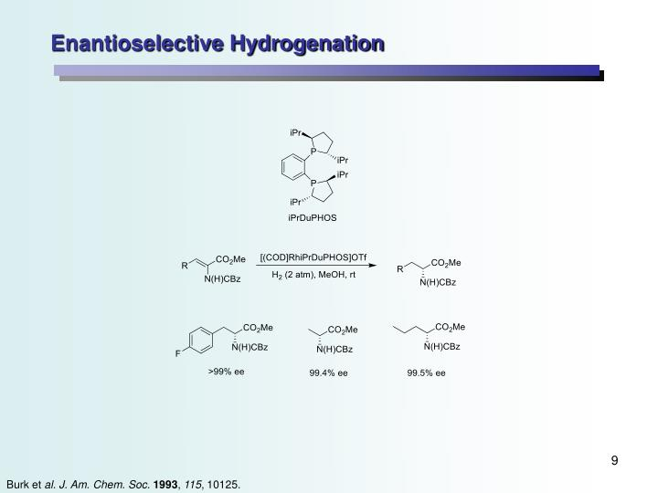 Enantioselective Hydrogenation