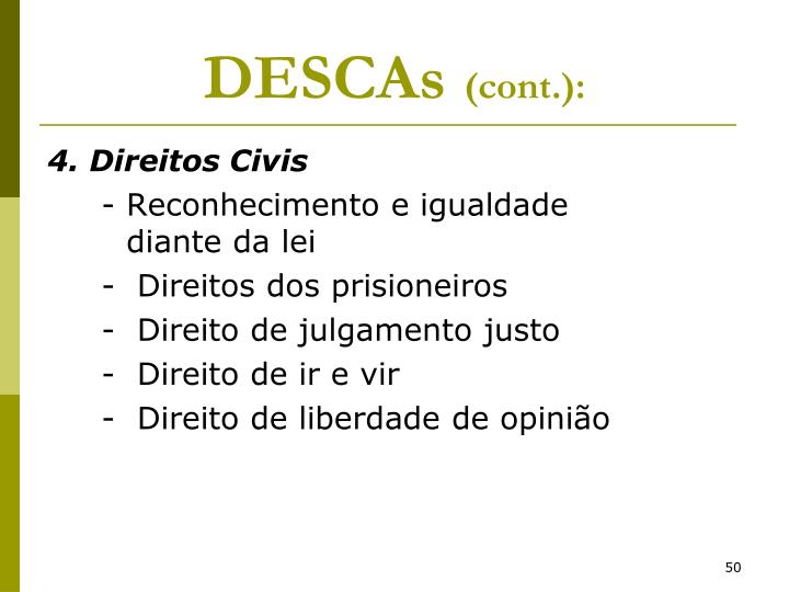 DESCAs