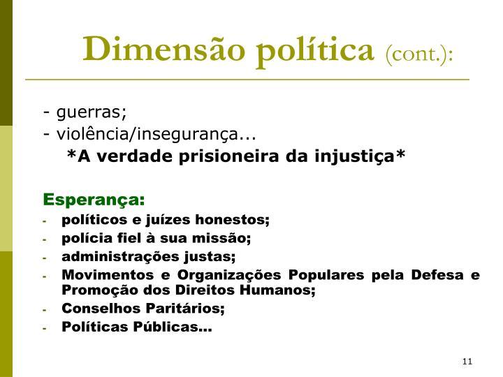 Dimensão política