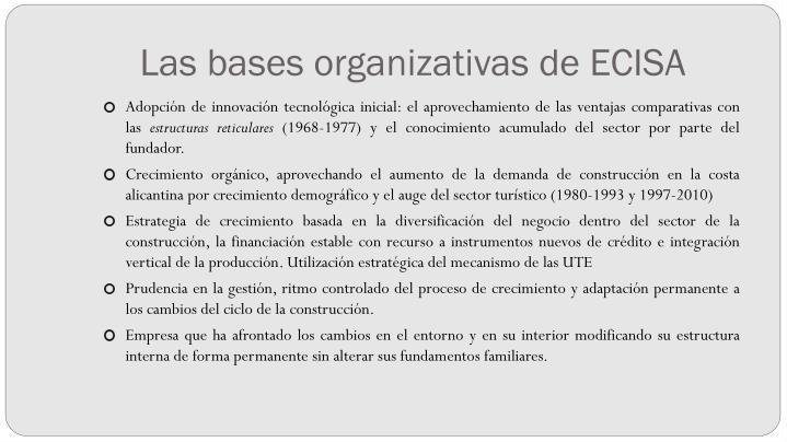 Las bases organizativas de ECISA