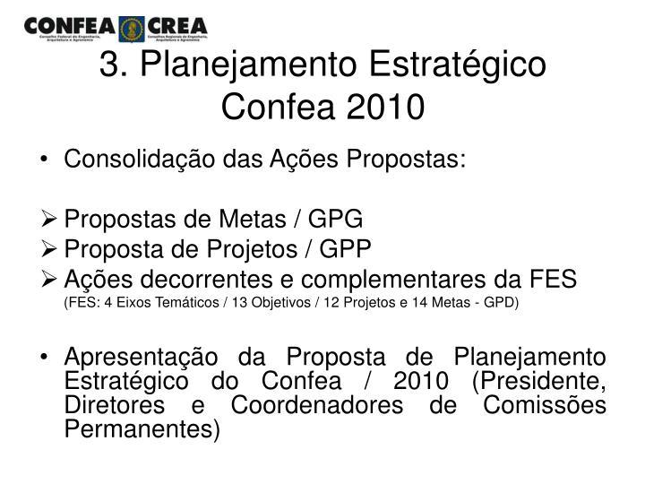3. Planejamento Estratégico Confea 2010