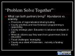 problem solve together