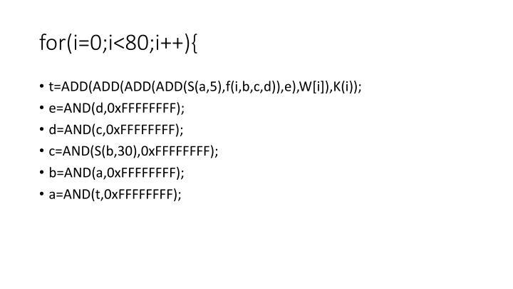 for(i=0;i<80;i++){