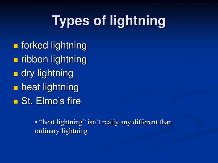 Types of lightning