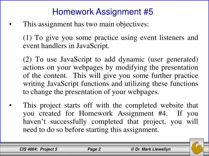 This assignment has two main objectives: