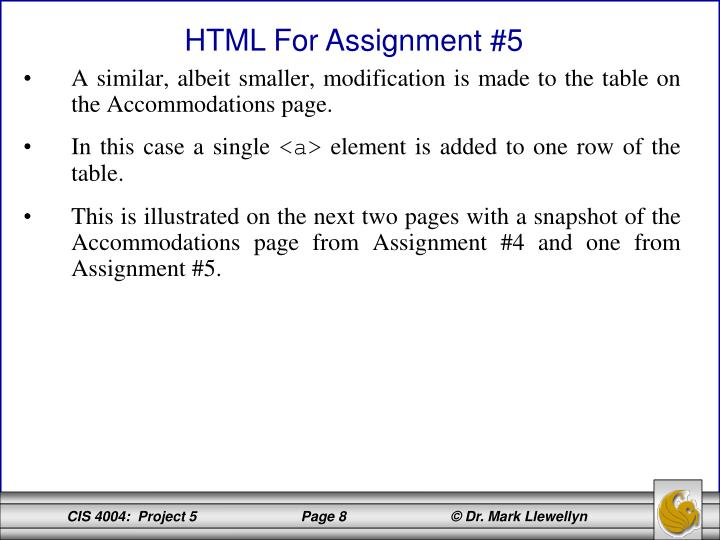 A similar, albeit smaller, modification is made to the table on the Accommodations page.
